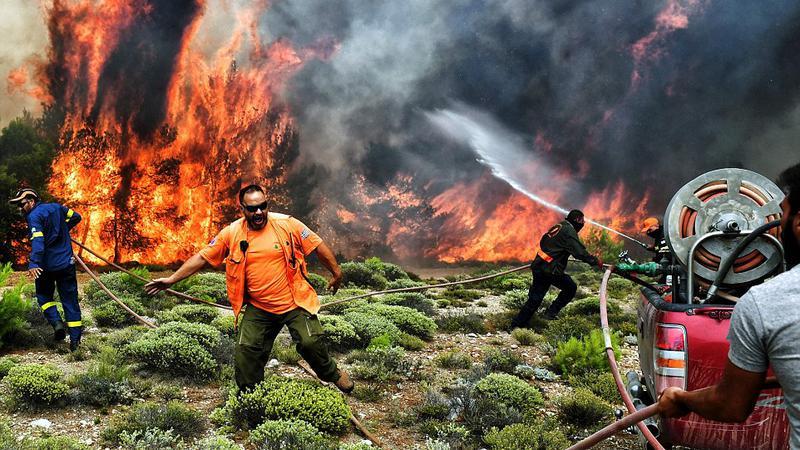 grecia incendiu2 | Sursa: AFP