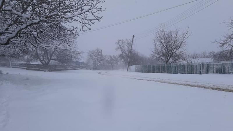 На севере Молдовы выпал снег
